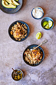 One Pot Chicken Thighs with Peppers, Rice and Beans