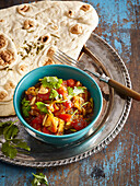Baingan Bharta - Indian eggplant tomatoe puree