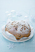 Sweet Christmas bread with hazelnuts and pine nuts