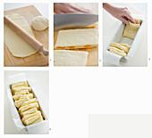 Süßes Kastenbrot mit getrockneten Aprikosen herstellen