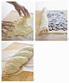 Make a babka with chocolate