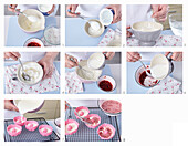 Non-baked yogurt small fancy breads - step by step