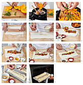 Pumpkin strudel - step by step