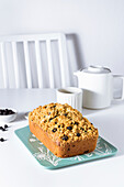 Dried blueberry and vanilla streusel pound cake