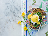 Eggs Florentine, Toasted English Muffin