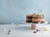 Flourless Chocolate Cake with candles