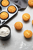 Homemade Vanillia Cupcakes being prepared