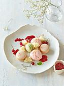 Dessert with macarons