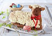 Easter lamb tiramisu style