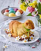 Easter custard sheep