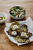 Zucchini fritters with Greek yogurt