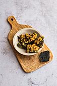 Nori seaweed tempura snack