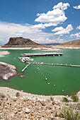 Drought affecting Elephant Butte reservoir, New Mexico, USA