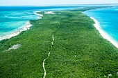 Vamizi Island, Mozambique, aerial photograph
