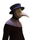 Plague doctor, illustration