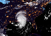 Tropical Storm Ida over the southern USA, satellite image
