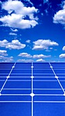 Solar panels and sky, composite image