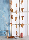 Gingerbread cookie curtain
