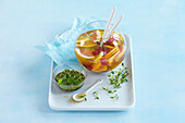 Alcohol-free punch with herb honey