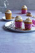 Apple cupcakes with cinnamon cream