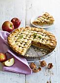 Apple pie with caramel Caramel Apple Lattice Pie