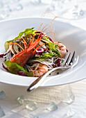 Garnelen-Algen-Salat mit Glasnudeln