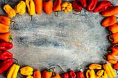 Fresh raw yellow pepper vegetable