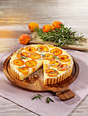 Apricot tart with rosemary