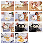 Fried onion rings - step by step
