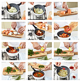 Hungarian fish stew - step by step