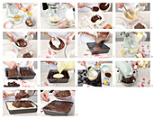 Bicolour pudding slices - step by step