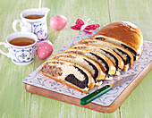 Easter nut and poppy seed cake