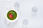 Caldo verde - Portuguese kale and potato soup with chorizo