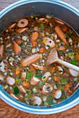 Baden lentil soup with sausages