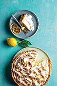 Lemon meringue yoghurt pie