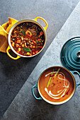 Beef and bean slow-cooker soup, Butternut soup with coconut and chilli