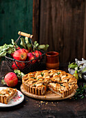 Apple and lentil tart with thyme