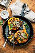 Pumpkins with Belugal Lentil Stuffing