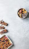 5-ingredient granola bars, Blueberry and banana bars, Protein balls