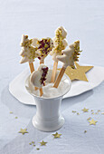 Linzer Christmas cookies like lollipop
