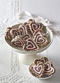Non-baked black-white hearts
