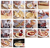 Rhubarb pie - step by step