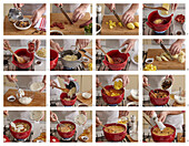 Moravian wallachian soup with sauerkraut - step by step