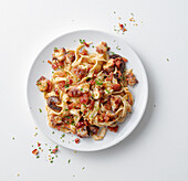 Tagliatelle (without eggs) all Arrabbiata with octopus