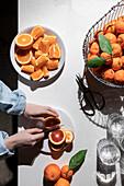 Oranges, blood oranges, and satsuma mandarins