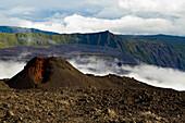Spatter cone in a caldera, La Reunion