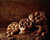 Dried fruit - walnuts, hazelnuts, almonds and raisins