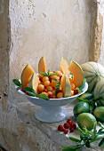 Melon, honey and ginger salad