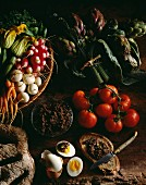 Vegetables from provence and tapenade