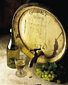 barrel of white wine